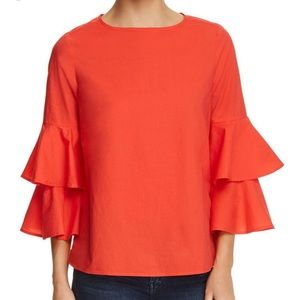 Large beach lunch lounge tiered bell sleeve top